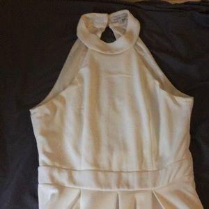 Charlotte Russe cream dress